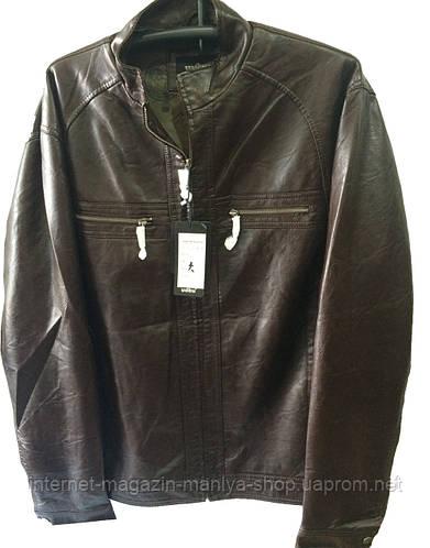 Мужская  куртка кожзам батал