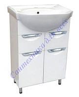Тумба для ванной комнаты с выдвижными ящиками Грация Т5 с умывальником Эпика-65