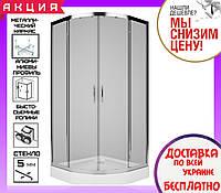 Душевая кабина с поддоном 90х90 см Kolo Rekord PKPG90222003 профиль хром стекло прозрачное