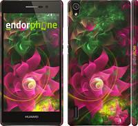 """Чехол на Huawei Ascend P7 Абстрактные цветы 2 """"818c-49"""""""