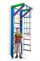 Дитячий дерев'яний спортивний куточок(шведська стінка) SportBaby «Веселка 2-220»