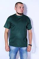 Футболка мужская однотонная зеленая 8768