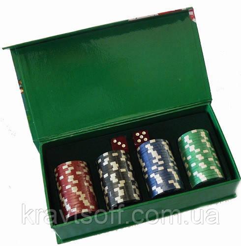 Набір фішок для покеру + гральні кості №72