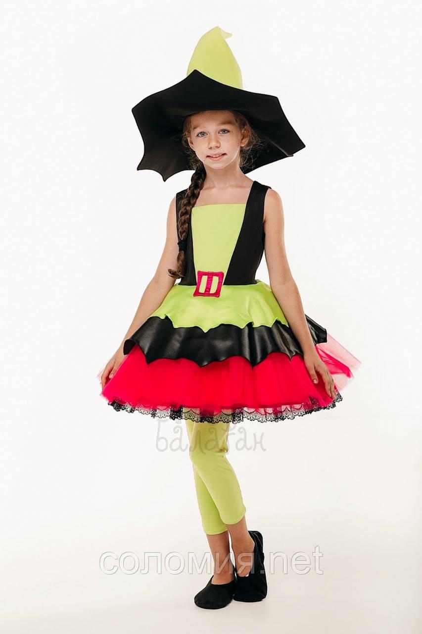 Детский карнавальный костюм для девочки Маленькая колдунья 122-140р