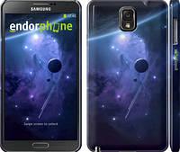 """Чехол на Samsung Galaxy Note 3 N9000 Планеты в синем космосе """"171c-29"""""""