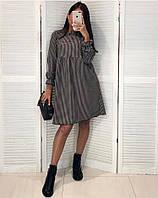 Платье женское в клетку 42-44 46-48