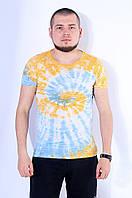 Футболка мужская желто-голубая
