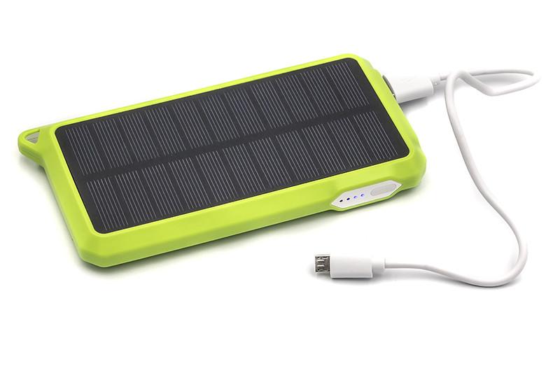 Портативная батарея PowerPlant с зарядкой от солнца 10000мач автономный внешний акб