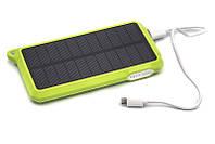 Портативная батарея PowerPlant с зарядкой от солнца 10000мач автономный внешний акб, фото 1