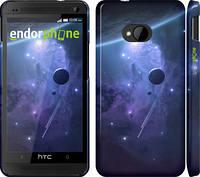 "Чехол на HTC One M7 Планеты в синем космосе ""171c-36"""