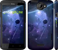 "Чехол на HTC One X+ Планеты в синем космосе ""171c-69"""