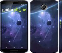 """Чехол на Motorola Nexus 6 Планеты в синем космосе """"171c-67"""""""