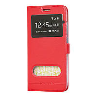 Чехол книжка для Xiaomi Mi Play Momax с двумя окнами красный