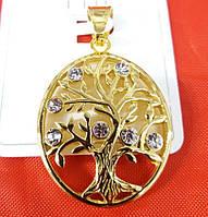 Овальный кулон дерево - кулоны оптом. Позолоченные кулоны Xuping Jewelry 473