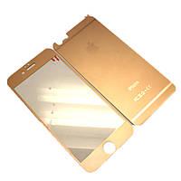 Защитное стекло для Apple iPhone 6/6s - 2шт. (КРУГИ Черный) Color Glass