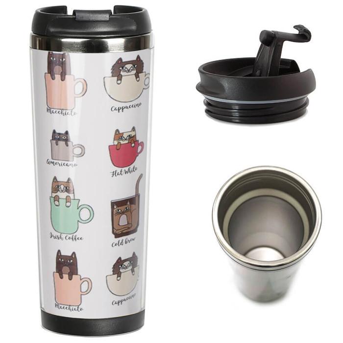 Термокружка Кошачий кофе 380 мл (21096)