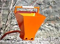 Хопер ковш для штукатура, хоппер, штукатурная лопата. Ковш штукатура. 2-х сопловый.