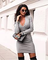 Платье женское ангора. Цвет: чёрный, серый, хаки