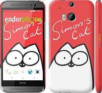 "Чехол на HTC One M8 Кот Саймона ""898c-30"""