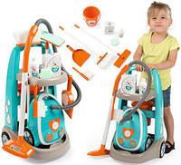 Игровой набор Smoby Toys Тележка для уборки  с пылесосом и аксессуарами 330309