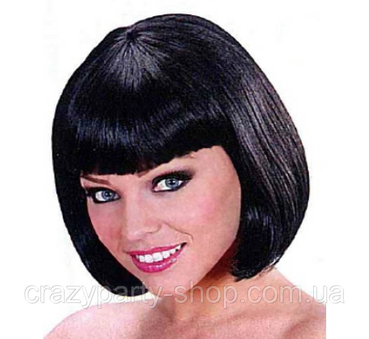Карнавальный парик карэ черный лицензионный
