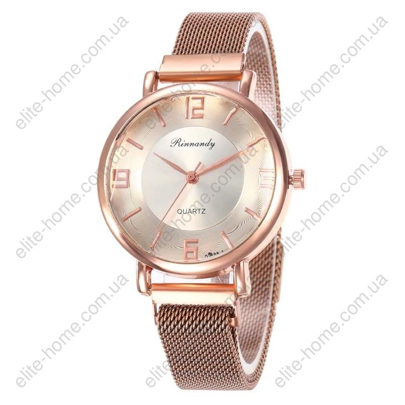 """Женские наручные часы на магнитной застежке """"Rinnandy"""" (золотистый)"""