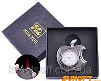 Зажигалка подарочная с часами Apple (Турбо пламя) №3919 Black