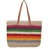 Плетена сумочка в смужку