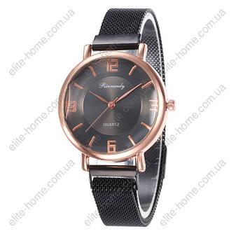 """Женские наручные часы на магнитной застежке """"Rinnandy"""" (черный), фото 2"""
