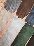 Замш с сенсором тонкий женские перчатки для работы на телефоне плоншете ANJELA стильные только оптом, фото 3