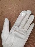 Замш с сенсором тонкий женские перчатки для работы на телефоне плоншете ANJELA стильные только оптом, фото 5