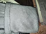 Замш с сенсором тонкий женские перчатки для работы на телефоне плоншете ANJELA стильные только оптом, фото 6