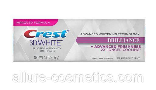 Отбеливающая освежающая зубная паста Crest 3D White Brilliance Teeth Whitening Toothpaste Mesmerizing Mint