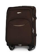 Малый чемодан 54х35х22 Ручная кладь на 4 колесах Fly 1708 Коричневый