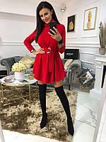 Платье женское нарядное короткое красное серое чёрное
