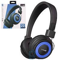 Bluetooth наушники с микрофоном Sonic Sound BE-20 черно-синие в Одессе