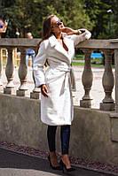 Женская длинная шуба из искусственного меха кролика,белого цвета