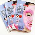 Кислородная тканевая маска для лица Deep Purifying Pink O2 Bubble Mask Peach (персик), фото 3