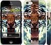 """Чехол на iPhone 5c Злой тигр """"866c-23"""""""