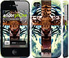 """Чехол на iPhone 4s Злой тигр """"866c-12"""""""