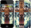 "Чехол на iPod Touch 5 Злой тигр ""866c-35"""