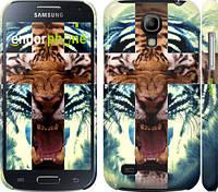 "Чехол на Samsung Galaxy S4 mini Duos GT i9192 Злой тигр ""866c-63"""