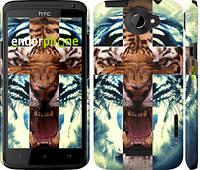 "Чехол на HTC One X+ Злой тигр ""866c-69"""