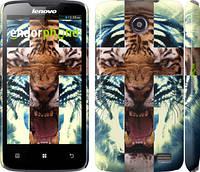 "Чехол на Lenovo A820 Злой тигр ""866c-68"""