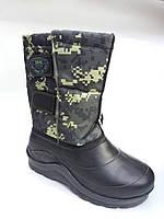 Зимние мужские сапоги на галоше из ПВХ Крок  Вставка размер 41-45