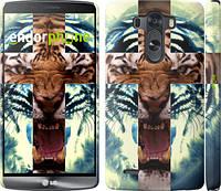 "Чехол на LG G3 dual D856 Злой тигр ""866c-56"""