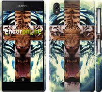 "Чехол на Sony Xperia Z2 D6502/D6503 Злой тигр ""866c-43"""