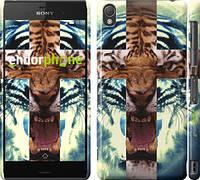 "Чехол на Sony Xperia Z3 D6603 Злой тигр ""866c-58"""