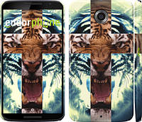 "Чехол на Motorola Nexus 6 Злой тигр ""866c-67"""