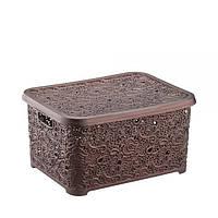 Корзина для хранения Ажур Elif 324-5 коричневый #O/Z